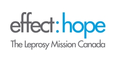 The logo for Effect Hope, The Leprosy Mission Canada