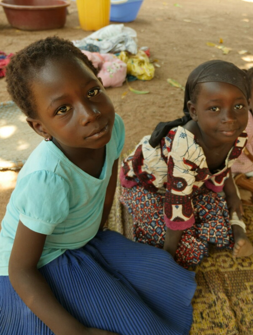 Two young children in cote d'ivoire