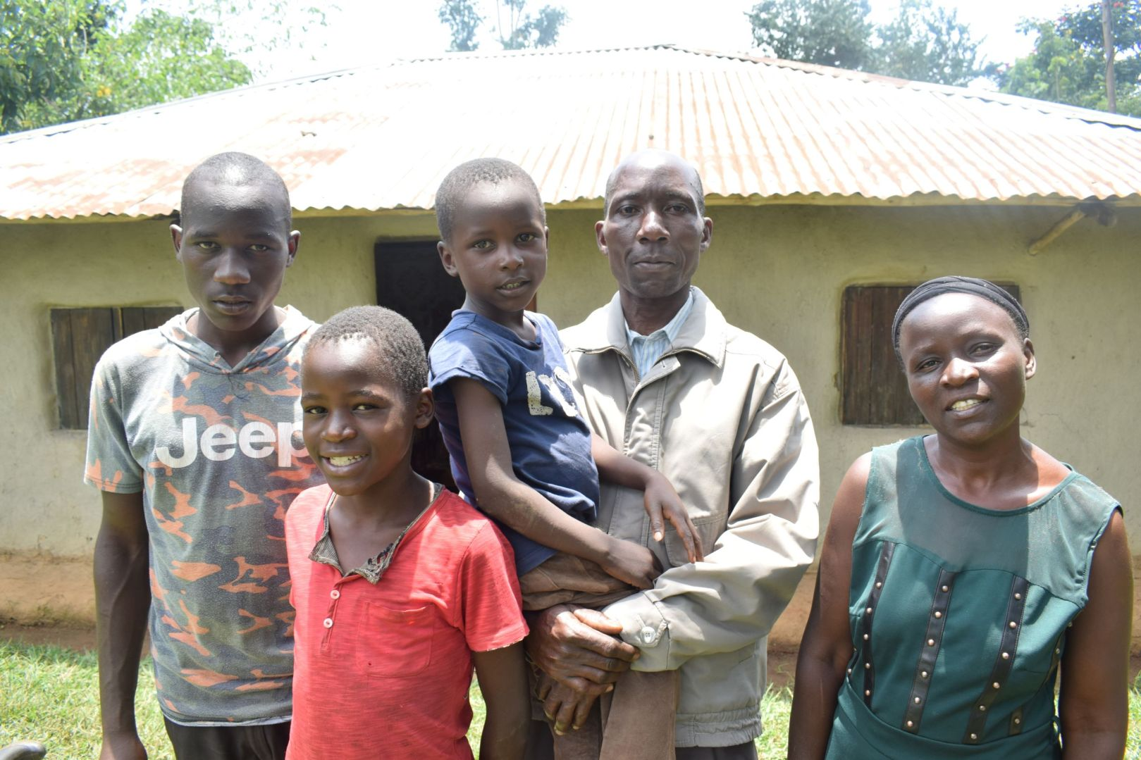 Hezron with his wife and three of their children.